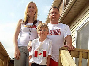 The Wrays at home in Canada